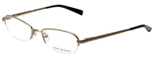 Tory Burch Designer Eyeglasses TY1003-106-52 in Gold 52mm :: Custom Left & Right Lens