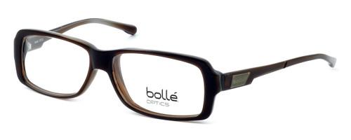 Bollé Dreux Designer Eyeglasses in Brown Stripe :: Rx Single Vision
