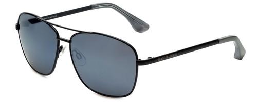 Isaac Mizrahi Designer Aviator Sunglasses in Black with Flash Mirror Lens