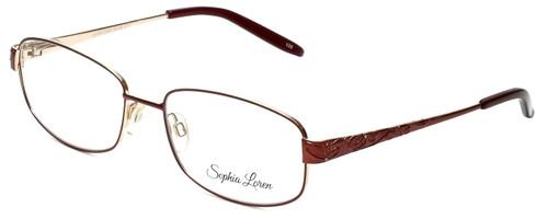 Sophia Loren Designer Eyeglasses SL-M243-077 in Burgundy 55mm :: Custom Left & Right Lens