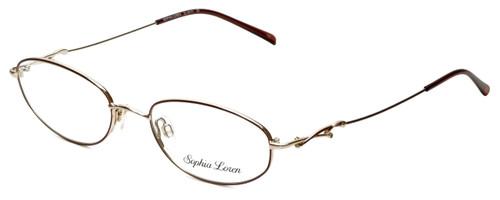 Sophia Loren Designer Reading Glasses SL-M171-963 in Burgundy/Gold 50mm