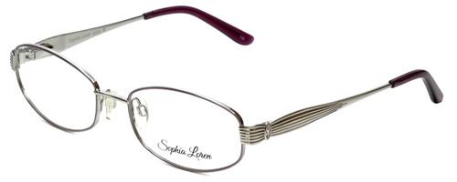 Sophia Loren Designer Reading Glasses SL-M242-341 in Muave/Silver 53mm