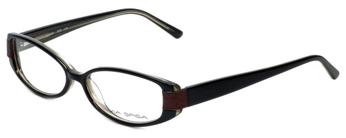 Via Spiga Designer Eyeglasses Domicella-500 in Black 53mm :: Custom Left & Right Lens