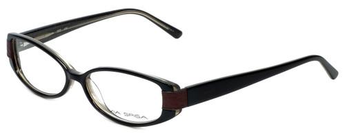 Via Spiga Designer Eyeglasses Domicella-500 in Black 53mm :: Progressive