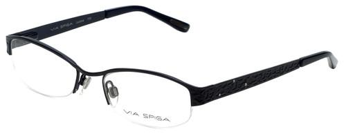 Via Spiga Designer Eyeglasses Luciana-770 in Navy 51mm :: Rx Bi-Focal