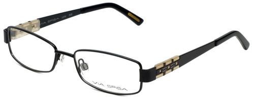 Via Spiga Designer Reading Glasses Lalia-500 in Black 52mm