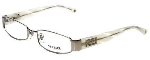 Versace Designer Eyeglasses 1122B-1221 in Platinum/Ivory 53mm :: Progressive