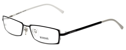 Versus by Versace Designer Eyeglasses 7047-1009-50 in Black/White 50mm :: Rx Single Vision