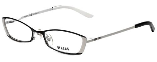 Versus by Versace Designer Eyeglasses 7048-1009 in Black/White 52mm :: Rx Single Vision