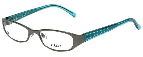 Versus by Versace Designer Eyeglasses 7080-1001 in Gunmetal/Blue 49mm :: Rx Single Vision