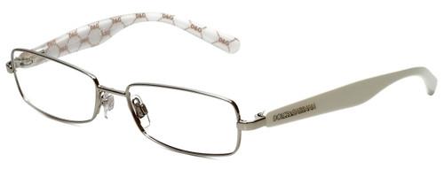 Dolce & Gabbana Designer Eyeglasses DG1234P-1203 in Silver White 53mm :: Custom Left & Right Lens