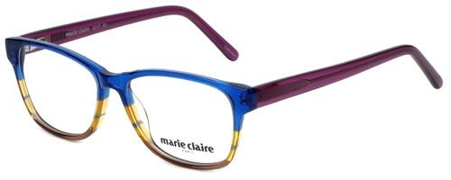 Marie Claire Designer Eyeglasses MC6217-BLU in Blue Stripe 52mm :: Custom Left & Right Lens