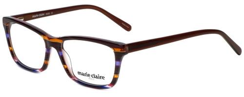 Marie Claire Designer Eyeglasses MC6220-SLV in Stripe Lavender  53mm :: Custom Left & Right Lens