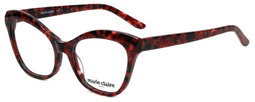 Marie Claire Designer Eyeglasses MC6234-BUR in Burgundy Marble 53mm :: Custom Left & Right Lens