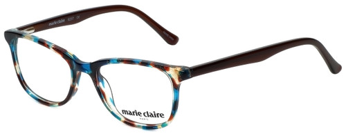 Marie Claire Designer Eyeglasses MC6237-TEB in Teal Brown 47mm :: Custom Left & Right Lens