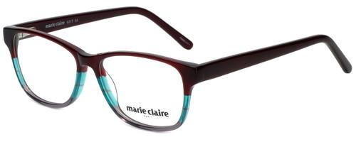 Marie Claire Designer Eyeglasses MC6217-BUR in Burgundy Stripe 52mm :: Rx Single Vision