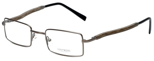 Gold & Wood Designer Eyeglasses 410.9-106 in Gunmetal 47mm :: Rx Bi-Focal