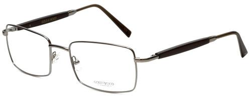 Gold & Wood Designer Eyeglasses 411.5-114 in Gunmetal 55mm :: Rx Bi-Focal