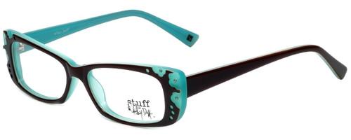 Hilary Duff Designer Eyeglasses HD122372-041 in Brown Blue 50mm :: Rx Single Vision