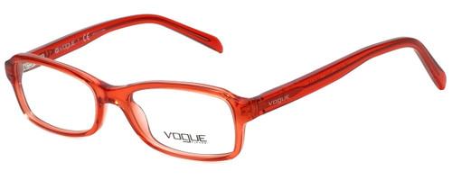 Vogue Designer Eyeglasses VO2882-2111 in Red Transparent 48mm :: Progressive