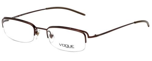 Vogue Designer Eyeglasses VO3504-729 in Dark Brown 49mm :: Custom Left & Right Lens