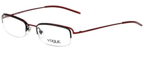 Vogue Designer Eyeglasses VO3504-733 in Red Black 49mm :: Custom Left & Right Lens