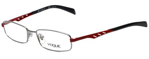 Vogue Designer Eyeglasses VO3755-548 in Silver Red 51mm :: Custom Left & Right Lens