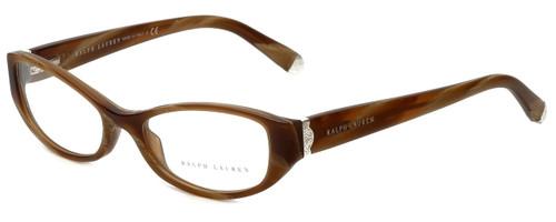 Ralph Lauren Designer Eyeglasses RL6108-5444-50 in  Brown Horn 50mm :: Custom Left & Right Lens