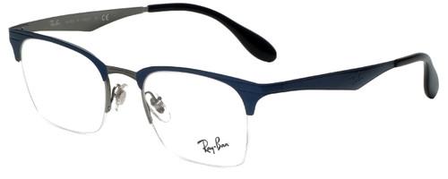 Ray-Ban Designer Reading Glasses RB6360-2863 in Blue Gunmetal 49mm