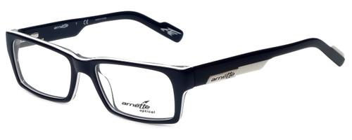 Arnette Designer Eyeglasses 7039-1097 in Dark Blue White 49mm :: Rx Single Vision