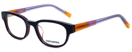 Converse Designer Eyeglasses Q005-Purple in Purple and Orange 48mm :: Rx Bi-Focal