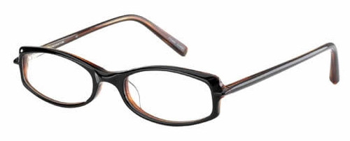 Jones NY Designer Eyeglasses J203 in Black Amber :: Rx Single Vision
