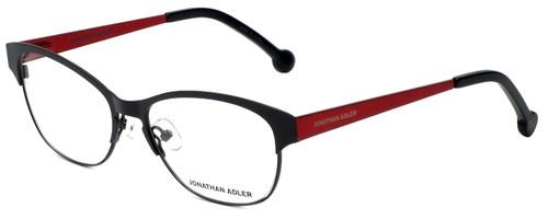 Jonathan Adler Designer Eyeglasses JA100-Black in Black 53mm :: Rx Bi-Focal