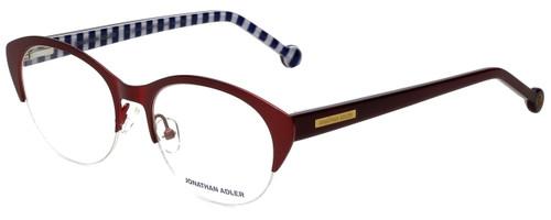 Jonathan Adler Designer Eyeglasses JA101-Bur in Burgundy 52mm :: Rx Bi-Focal