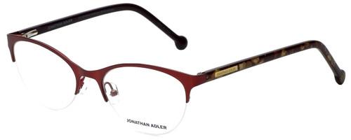 Jonathan Adler Designer Eyeglasses JA104-Red in Red 53mm :: Rx Bi-Focal