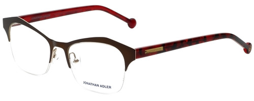 Jonathan Adler Designer Eyeglasses JA106-Brown in Brown 51mm :: Rx Bi-Focal