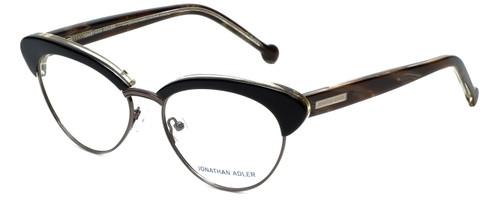 Jonathan Adler Designer Eyeglasses JA108-Black in Black 53mm :: Rx Bi-Focal