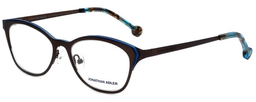 Jonathan Adler Designer Eyeglasses JA110-Brown in Brown Blue 51mm :: Rx Bi-Focal