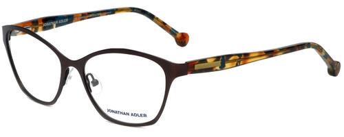 Jonathan Adler Designer Eyeglasses JA504-Brown in Brown 53mm :: Rx Bi-Focal
