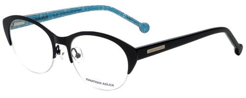Jonathan Adler Designer Reading Glasses JA101-Black in Black 52mm