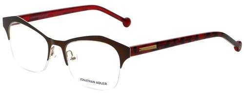 Jonathan Adler Designer Reading Glasses JA106-Brown in Brown 51mm