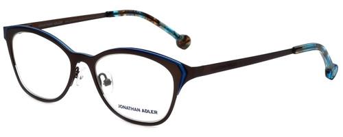 Jonathan Adler Designer Reading Glasses JA110-Brown in Brown Blue 51mm