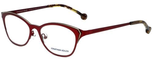 Jonathan Adler Designer Reading Glasses JA110-Burgundy in Burgundy Gold 51mm