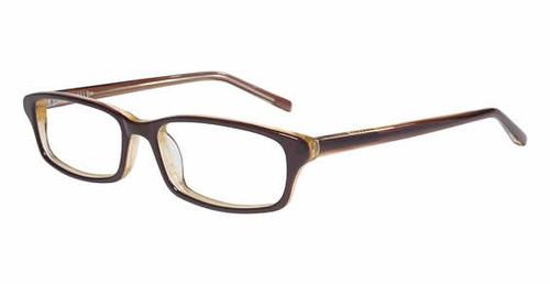 Jones NY Designer Eyeglasses J739 in Brown :: Rx Single Vision