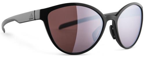 Adidas Designer Sunglasses Tempest in Black Shiny & LST Active Silver Lens