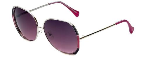 Lucky Brand Designer Sunglasses Aurora in Silver with Purple Lens