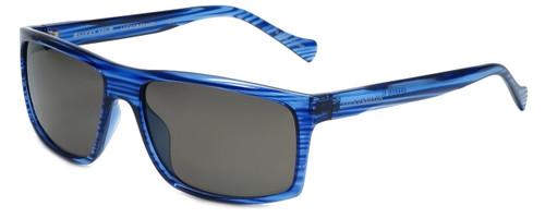 Lucky Brand Designer Sunglasses Refrain in Blue with Grey Lens