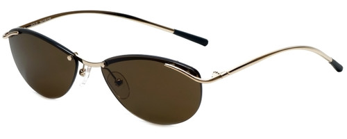 Woolrich Charisma Designer Sunglasses in Gold with Brown Lens
