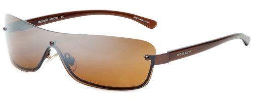 Woolrich Horizon Designer Sunglasses in Brown with Amber Lens