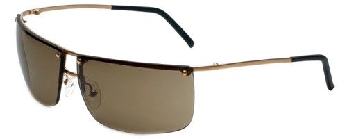 Woolrich Napa Designer Sunglasses in Satin Gold with Amber Lens
